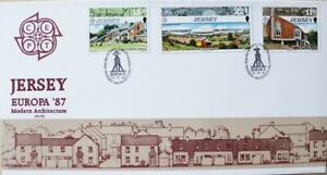 """Jersey Stamps CEPT Europa '87 """"Jersey Modern Architecture"""" First Day Cover 1987"""