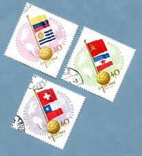 HUNGARY stamps 1962 World Football Championships. Three stamps