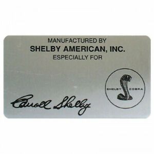 Shelby Name Plate 70x40mm