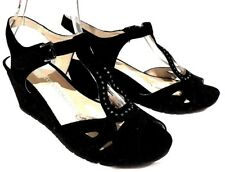 sz 38/7 TS TAKING SHAPE Ashley Wedge Suede  leather Peep Toe  Shoes NIB