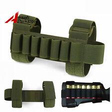 Tactical 1000D Shotgun Shell Holder 7 Round 12/20 Gauge Ammo Buttstock Pouch OD