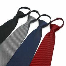 Lazy Men's Zipper Necktie Solid Casual Business Wedding Slim Zip Up Neck Tie USA