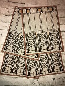 Arts & Crafts 4PC Placemats Frank Lloyd Wright Tree of Life by Rennie & Rose