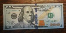 $ 100 AMERICAN DOLLAR BILL STAR NOTE 2009 A SERIAL NUMBER LL17864292☆ crispy new