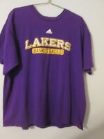 L.A.LAKERS BASKETBALL ADIDAS  T-SHIRT, 100% COTTON , SIZE XL, GOOD CONDITION