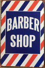 BARBER SHOP TIN RETRO  RUSTIC  METAL SIGN