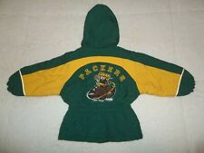 VINTAGE 90'S GREEN BAY PACKERS CHEESEHEAD STARTER JACKET COAT TODDLER 2T VTG OG