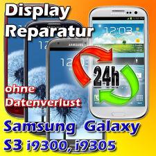 24 St. Display Reparatur Samsung Galaxy S3 I9300 I9305 Glas Austausch Blau