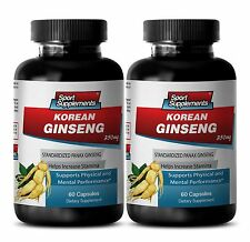 Korean Red Ginseng Capsule - Korean Ginseng 350mg - Boost Sexuality 2B