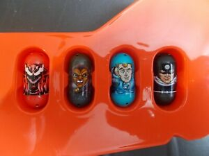 Mighty Beanz Marvel 4 Bean Lot #59 Carnage, #10 Blade, #21 Bullseye & 1 More!