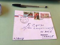 Republic Gabonaise  to France Airmail stamps Cover Ref 51418