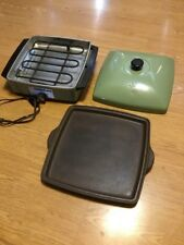 Vintage RIVAL Electric Crock Plate Lid Retro Green Model J 3900 Rare Green!!