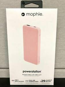 Mophie Powerstation - 8000 MAH - 29 + hrs - Rose - USB and USB-C - New In Box