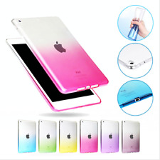 Colorful Soft TPU Silicone Rubber Case For iPad 2 3 4 pro 9.7 Transparent Cover