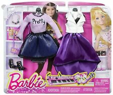 NEW! BARBIE COMPLETE LOOK FASHION 2-PACK POP CONCERT SET