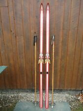 """New listing Great Ready to Use Cross Country 77"""" Fischer 200 cm Snow Skis + Poles"""