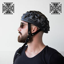 L Unique Black Skull Cap Low Profile Motorcycle Helmet Biker Chopper Novelty