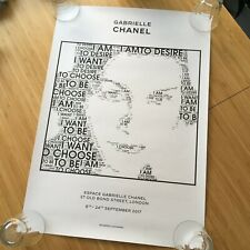 CHANEL Gabrielle Exhibition Poster Bond Street London 2017 RARE