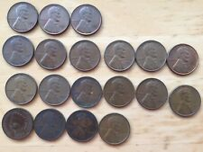 USA One Cent Coins 1902-1953 19 in total