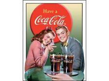 NEW Coke-Young Couple tin metal sign