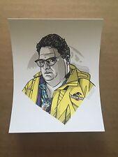 Tyler Stout Dennis Nedry Jurassic Park Handbill Pros & Cons 5 Newman 4x5 Inches