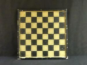 Antique Folk Art Painted Chess/Backgammon Board Nice