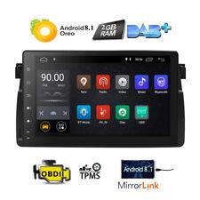 "9"" Autoradio Android 8.1 BMW 3er E46 318 M3 Rover 75 MG ZT DAB+ GPS BT DTV Navi"