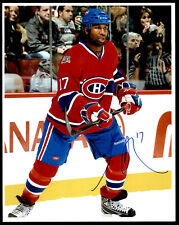 Georges Laraque Montreal Canadiens Signature 8x10 Glossy Photo Autograph