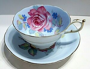 ROYAL PARAGON fine china CABBAGE ROSE cup and saucer double warranted