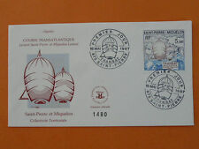 sailing transatlantic FDC St Pierre Miquelon SPM197