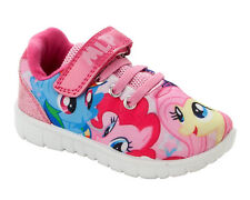 GIRLS OFFICIAL MY LITTLE PONY CHARACTER PINK AQUA SLIP ON SLIPPERS UK SIZE 6-12