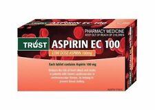 ツ TRUST ASPIRIN EC 100MG 84 TABLETS LOW DOSE ASPIRIN SAME AS CARTIA