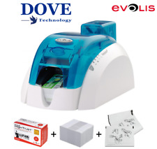 EVOLIS PEBBLE 4 ID CARD PRINTER with USB + NETWORK.  (Only 590 Cards Printed).