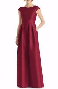 Alfered Sung Cap Sleeve A-Line Gown-Size 8 (LK# 51A)