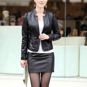 Mini jupe crayon haute sexy moulante faux cuir noir neuf M
