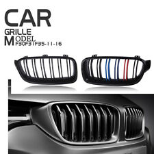 For BMW F31 Touring F30 Sedan 12-17 Front Kidney Grille Cover Dual Slat M Color