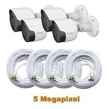 4 Pack Samsung SDC-89445BF 5MP HD Camera w/ Cable SDH-C85100BF, SDH-C84085, 45