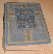 andachtsbuch wälzer illustriert haus fam. antik buch kunstbeilagen + bilder 1903