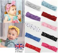 Baby Girls Bow Rabbit Turban Polka Sparkling Headband Hair band Head Wrap Kids