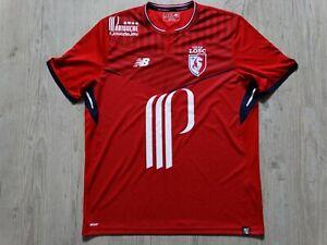 LOSC LILLE OSC maillot foot  jersey shirt XL domicile 2017 2018 new balance