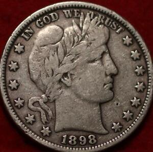 1898 Philadelphia Mint Silver Barber Half Dollar