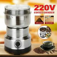 Electric Spice Coffee Nut Seed Herb Grinder Crusher Mill Blender Steel 220V USA