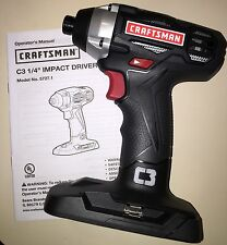 "19.2V Craftsman C3  Impact Driver 5727.1 1/4"" New ! Uses Lithium Battery"