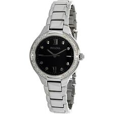 Bulova Women's Diamond 96W207 Silver Stainless-Steel Quartz Dress Watch