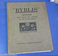 Byblis Miroir des arts du livre et de l'estampe printemps 1927