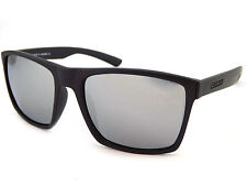 Dirty Dog VOLCANO Polarized Mens Sunglasses Satin Black  / Silver Mirror 53435