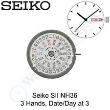 Movement - White Date/Day at 3 Genuine Seiko (Sii) Nh36 Nh36A Automatic Watch