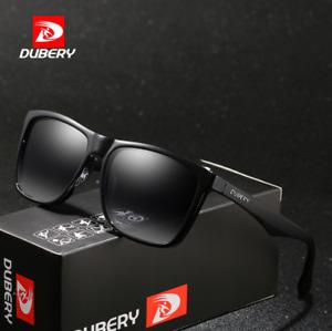 DUBERY Men Sports Polarized Sunglasses Outdoor Driving Fishing Square Glasses
