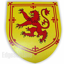 WOODEN ROLE PLAY FANTASY TOY SHIELD WITH SCOTTISH RAMPANT LION EMBLEM