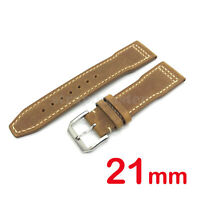 21mm Suede Crazy Horse Leather Watch Band Strap for IWC Pilot Topgun Portuguese